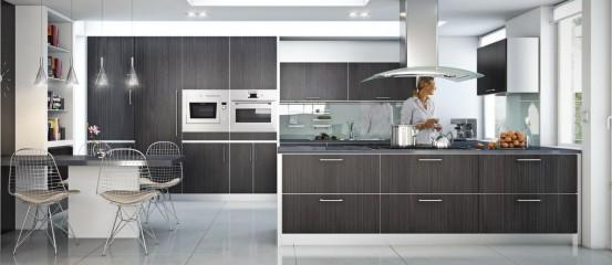poubelles de cuisine encastrables dans le plan de travail. Black Bedroom Furniture Sets. Home Design Ideas